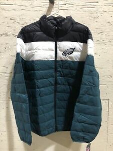 NEW Poly Fill Quilted Jacket Cold Front Philadelphia Eagles FAN WEAR Size XL