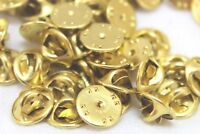 Brass Clutch Backs Pin back Tie Hat Lapel Badge guards insignia backs Lot of 20