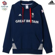 ADIDAS TEAM GB OLYMPIC ATHLETE HOODED SWEATSHIRT HOODY Size L 46/48