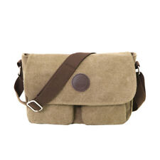 Men's Canvas Shoulder Bag Crossbody Messenger School Bag Handbag Travel Satchel