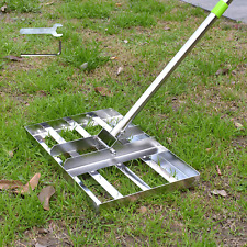 Scalebeard Lawn Leveling Rake, 6.5 FT Lawn Leveling Rake with Stainless Steel Po