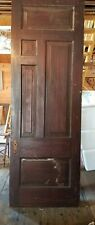 Huge 19Th c Door W Raised Panels Ribbon Moldings