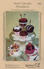 "Sweet Cupcake Pincushions - Pattern by Vickie Clontz - 3"" Pincushions in Felt"