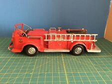 "'50'S ORIG DOEPKE ROSSMOYNE FIRE PUMPER TRUCK 19"" PRESSED STEEL TOY/LADDER"