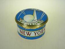 "Halcyon Days Enamel Box New York World's Fair 1939 ""Building The World"""