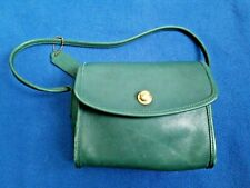 VINTAGE COACH CHRYSTIE RARE DARK GREEN EUC SHORT STRAP PUSH SNAP CLOSURE