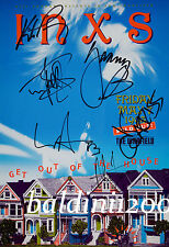 INXS - MICHAEL HUTCHENCE SIGNED 12X8 PHOTO GREAT CONCERT POSTER IMAGE