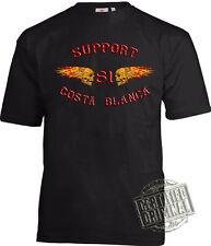 01 HELLS ANGELS SPAIN Motorcycle Club SUPPORT81 Biker Chopper 1%er T-shirt S-8XL