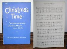 VINTAGE 1960 CHRISTMAS TIME MUSIC BOOK KANSAS CITY MO Free shipping