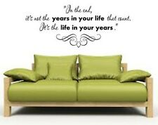 LIFE THAT COUNTS Words Vinyl Wall Decal Lettering Sticky Sticker Quote 24""
