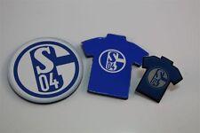 Schalke 04 S04  3er Set - Trikotpin,Logo Magnet ,Magnet Trikot Bundesliga