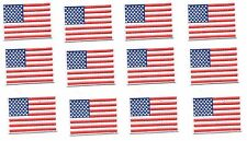 Embroidery Patch: Set of 12 Pocket Size Patriotic USA American Flag