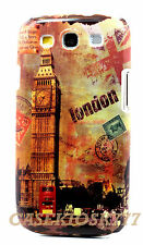 for Samsung galaxy i9300 s3 S III hard back case cover London big ben bus retro