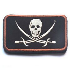 USMC INFIDEL JOLLY ROGER FLAG PIRATE SKULL CROSS EMBROIDERED PATCH