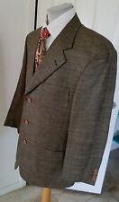 Samuelsohn Brown Tweed Jacket Silk Linen Wool 42R 3 Button Dual Vents