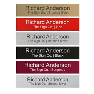"""Personalized Name Plate Sign for Office Desk or Door 2"""" X 10"""" - Customized"""