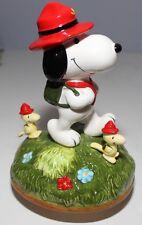 Vintage Snoopy & The Beaglescouts Musical Ceramic Figurine Japan Schmid Le