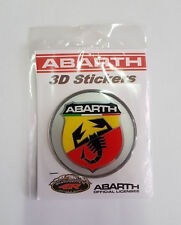 ADESIVO RESINATO 3D LOGO BADGE FREGIO ABARTH ORIGINALE diametro 75mm