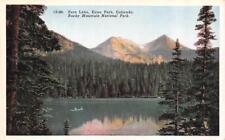 Estes Park, Co Colorado Fern Lake~Rocky Mountain National Park c1920's Postcard