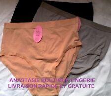 lingeriespécialegrandestaillesfemme 62 lot 3culottes/slipcotontréshautefondlarge