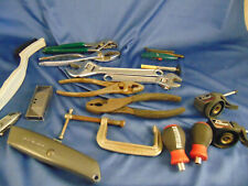 Junk Drawer Hand Tools Wrenches Pliers Allen Vice Razor Blades Clamp Dustoff Art