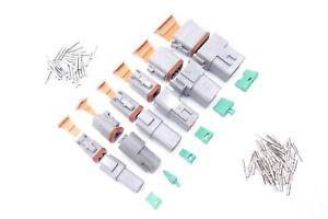 DT DEUTSCH Wasserdicht Stecker Set 2/3/4/6/8/12-Polig Steckverbinder KFZ 0,5-2mm