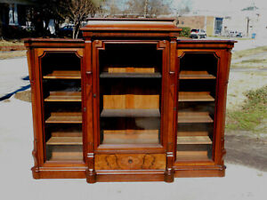 Walnut Bookcase~~Victorian~~3 Section