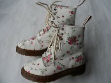 DR MARTENS CLASSIC 1460 WHITE PORTLAND ROSE BOOTS- SIZE 3 UK/36 EU/5US EXCELLENT