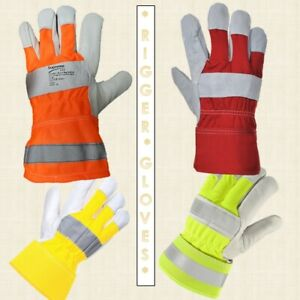Mens Gardening Gloves Cow leather work gloves for Rigger & Builders