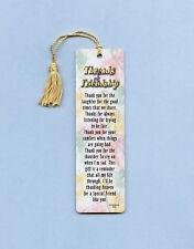 """""""Threads Of Friendship"""" Poem on Tassel Bookmark-(maise tassel) - sku# 852"""