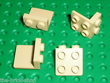 4 x tan Bracket LEGO 44728 / set 8037 10196 75103 8039 10195 6208 75157 10198...