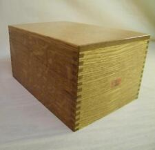 Vintage Weis Oak 3x5 Wood Box Library Card Catalog, Recipe Card Filing