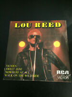 """LOU REED 45 RPM 7"""" VINYL,WALK ON THE WILD SIDE,VICIOUS,SWEET JANE,NOWHERE AT ALL"""