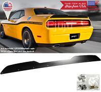 For 08-14 Challenger Satin Black Decklid Spoiler Add-on Gurney Flap Wickerbill
