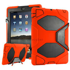 """Hybrid Shockproof Military """"Built-in Screen Protector"""" Case Cover For iPad 2 3 4"""