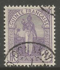 FRENCH GUINEA. 1905. 1fr Lilac Postage Due. SG: D39. Fine Used.