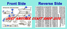 Corgi Toys GS 3 Batman Batmobile Batboat Gift Set Operating Instruction Leaflet