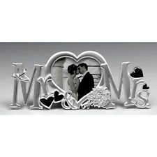 Mr & Mrs Letter Message Photo Frame Silver Plated 71406 Wedding Gift Present