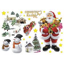 Removable Merry Christmas Santa Claus Home Decor Art Vinyl Wall Sticker Decal