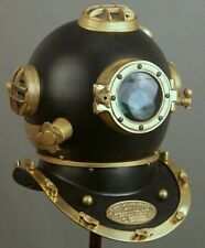 Antique Brass Navy Marine Boston Vintage Morse Diver Diving Helmet Mark Vi Decor