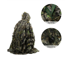 Tactical Leaf Poncho Camouflage Military  Hunting Ghillie Suit 3DMaple Leaf Cape