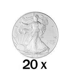 20 x 1 oz Silver Eagle Coin - 2018 US .999 Silver - United States Mint