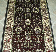 "Rug Depot Carpet Stair Runner Remnant 26"" x 22'5 Brown Staircase Rug Runner Poly"