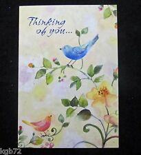 Leanin Tree Friendship Thinking Of You Birds Greeting Card Multi Color R162