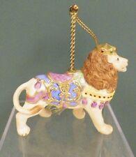 "Lenox Carousel Animals Christmas Decorative Ornament 1989 Lion Euc 3 3/4"""
