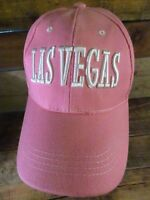 LAS VEGAS Pink White Adjustable Adult Hat Cap