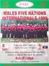 1999 Wales Women Pre Five Nations Rugby Team Poster