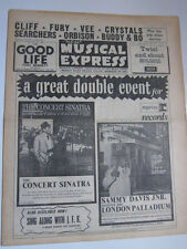 NME July 12 1963 Crystals Cliff Richard Bo Diddley