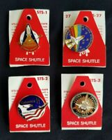 NASA Space Shuttle Pins- Lot of 4 (STS-1, STS-2, STS-3,STS-27) Brand New