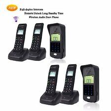 2pcs Home Security LCD 2.4GHz Wireless Door Intercom System Outdoor Unit+Handset